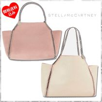 Stella McCartney FALABELLA Casual Style A4 Chain Plain Totes