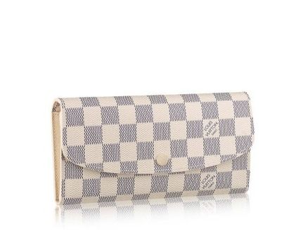 Louis Vuitton Long Wallets Other Check Patterns Canvas Blended Fabrics Long Wallets 2
