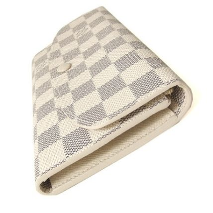 Louis Vuitton Long Wallets Other Check Patterns Canvas Blended Fabrics Long Wallets 5