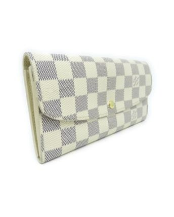 Louis Vuitton Long Wallets Other Check Patterns Canvas Blended Fabrics Long Wallets 6