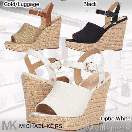 f5525580c0a8 ... Sandals 9 Michael Kors Platform   Wedge Open Toe Casual Style Plain  Leather Platform   Wedge ...
