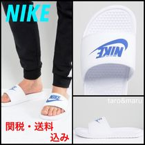 Nike BENASSI Unisex Faux Fur Street Style Plain Shower Shoes Flipflop