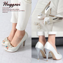 Open Toe Studded Pin Heels Handmade Party Style