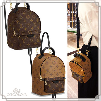 8e288a620 ... Louis Vuitton Backpacks 18AW PALM SPRINGS BACKPACK MINI MONOGRAM CANVAS  BI-COLOR ...