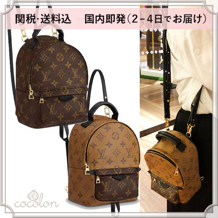 18AW PALM SPRINGS BACKPACK MINI MONOGRAM CANVAS BI-COLOR