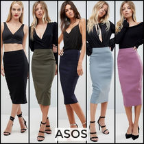 ASOS Pencil Skirts Plain Medium Office Style Midi Skirts