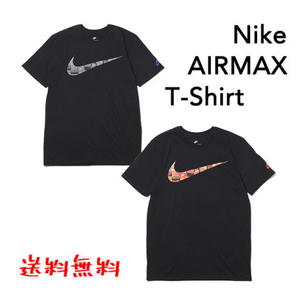 ... Nike More T-Shirts Unisex Plain Cotton Short Sleeves Logos on the  Sleeves ... 80a3e9acc6aa