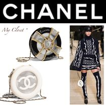 CHANEL Street Style 2WAY Bi-color Chain Elegant Style Shoulder Bags