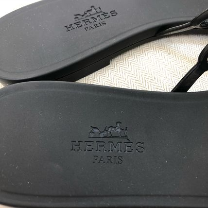 HERMES More Sandals Open Toe Rubber Sole Elegant Style Sandals Sandal 3