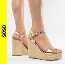 ASOS Casual Style Faux Fur Platform & Wedge Sandals