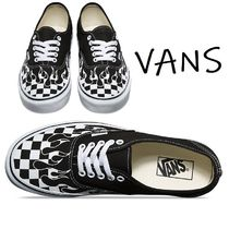 VANS AUTHENTIC Other Check Patterns Unisex Street Style Sneakers