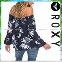 ROXY Flower Patterns Tropical Patterns Casual Style Medium