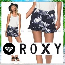ROXY Short Flower Patterns Tropical Patterns Casual Style