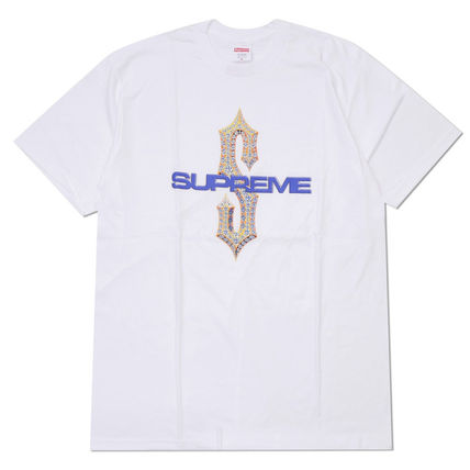 Supreme Crew Neck Pullovers Street Style Cotton Short Sleeves