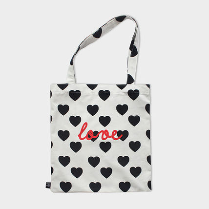 Heart Casual Style Handmade Totes