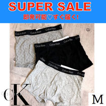Calvin Klein CK CALVIN KLEIN Bi-color Plain Cotton Trunks & Boxers