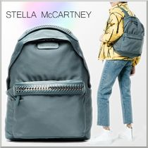 Stella McCartney FALABELLA Casual Style A4 Chain Plain Backpacks