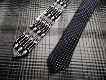 Saint Laurent Skull Dots Ties