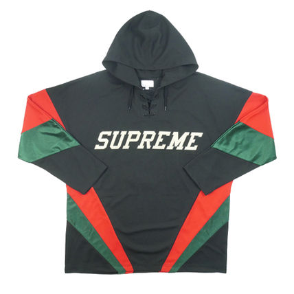 Supreme Pullovers Street Style Long Sleeves Tops
