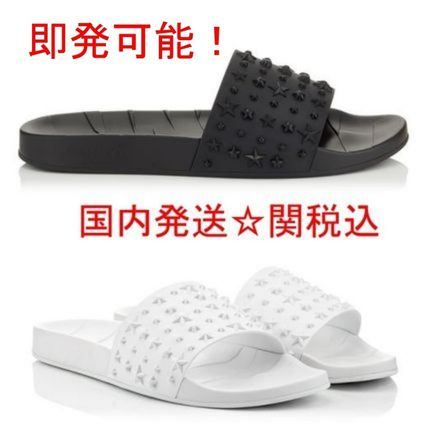 Star Studded Street Style Plain Shower Shoes Shower Sandals
