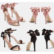 TED BAKER Open Toe Plain Leather Pin Heels Party Style
