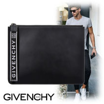 GIVENCHY Monogram Canvas Street Style Bag in Bag Plain Clutches