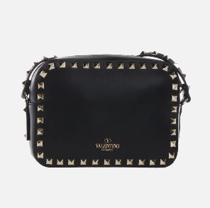VALENTINO Shoulder Bags Studded Plain Leather Crossbody Shoulder Bags 2