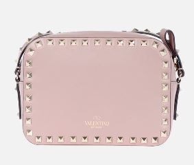 VALENTINO Shoulder Bags Studded Plain Leather Crossbody Shoulder Bags 6