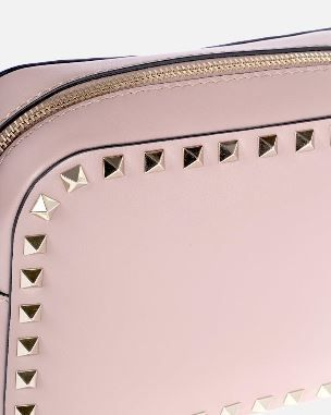 VALENTINO Shoulder Bags Studded Plain Leather Crossbody Shoulder Bags 7
