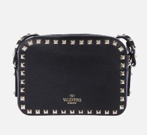 VALENTINO Shoulder Bags Studded Plain Leather Crossbody Shoulder Bags 8