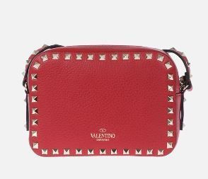 VALENTINO Shoulder Bags Studded Plain Leather Crossbody Shoulder Bags 10