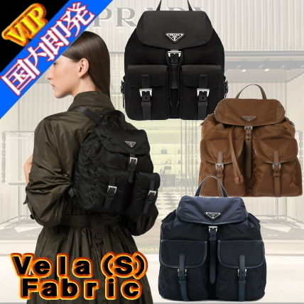 Unisex Nylon 2WAY Plain Elegant Style Backpacks