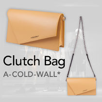 A-COLD-WALL Unisex 2WAY Chain Plain Leather Clutches
