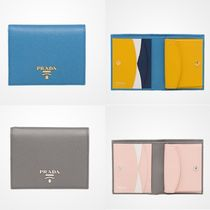 PRADA SAFFIANO LUX Saffiano Bi-color Plain Folding Wallets