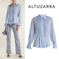 ALTUZARRA Long Sleeves Plain Medium Elegant Style Shirts & Blouses