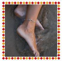 Unisex Street Style Handmade Silver Elegant Style Anklets