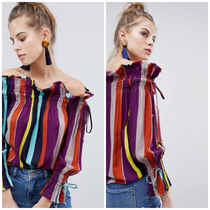 ASOS Stripes Casual Style Street Style Bandeau & Off the Shoulder