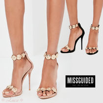 Missguided Open Toe Suede Pin Heels Elegant Style Heeled Sandals