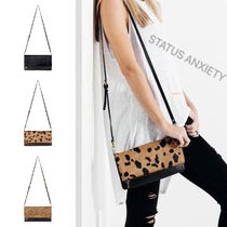 STATUS ANXIETY Leopard Patterns Other Animal Patterns Leather Shoulder Bags