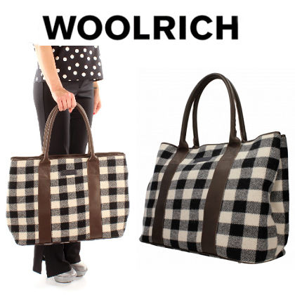 Other Check Patterns Casual Style Nylon A4 2WAY Totes