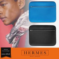 HERMES Calfskin Plain Wallets & Small Goods