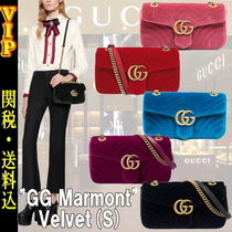 GUCCI GG Marmont Heart 2WAY Chain Plain Elegant Style Shoulder Bags