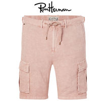Ron Herman Unisex Plain Cotton Handmade Cargo Shorts