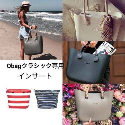 Stripes Other Check Patterns Casual Style Bag in Bag Totes