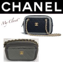 CHANEL MATELASSE Other Check Patterns Bi-color Chain Elegant Style