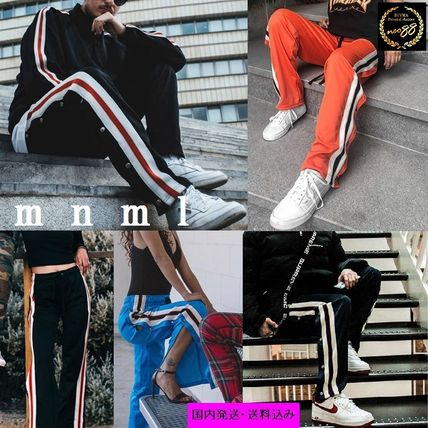 Stripes Casual Style Blended Fabrics Street Style Cotton
