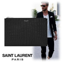 Saint Laurent Street Style Bag in Bag Plain Other Animal Patterns Leather
