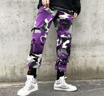 Camouflage Unisex Street Style Cotton Joggers & Sweatpants