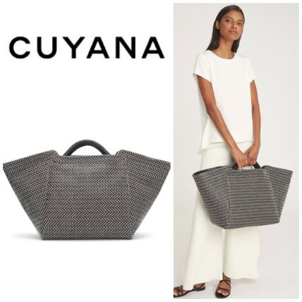 Casual Style Blended Fabrics 2WAY Oversized Totes