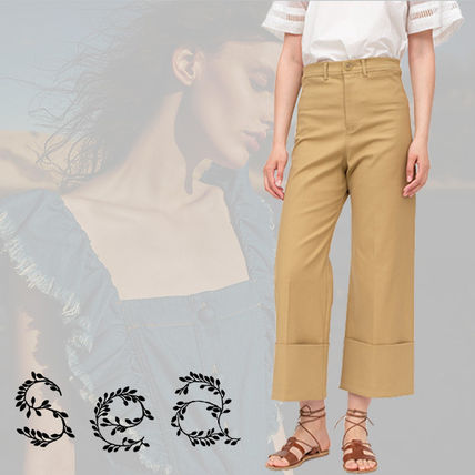 Casual Style Linen Street Style Plain Long Pants